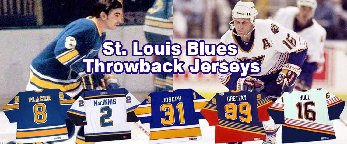 St. Louis Blues Throwback Hockey Jerseys