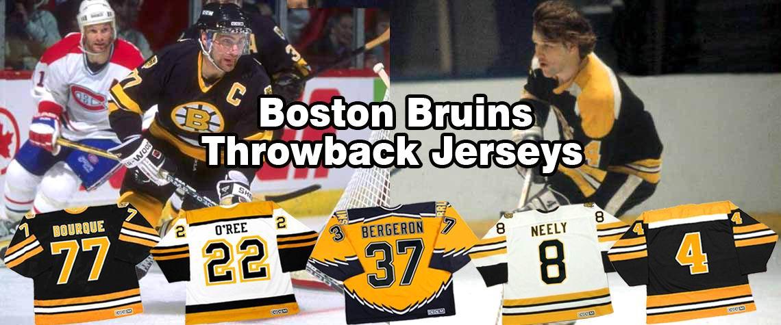 Boston Bruins Throwback Hockey Jerseys