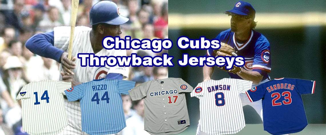 Chicago Cubs Throwback Baseball Jerseys