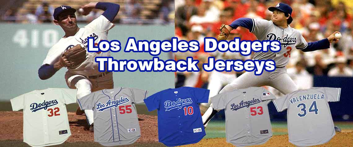 Los Angeles Dodgers  Throwback Baseball Jerseys