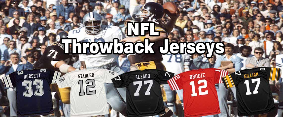 NFL Throwback Football Jerseys