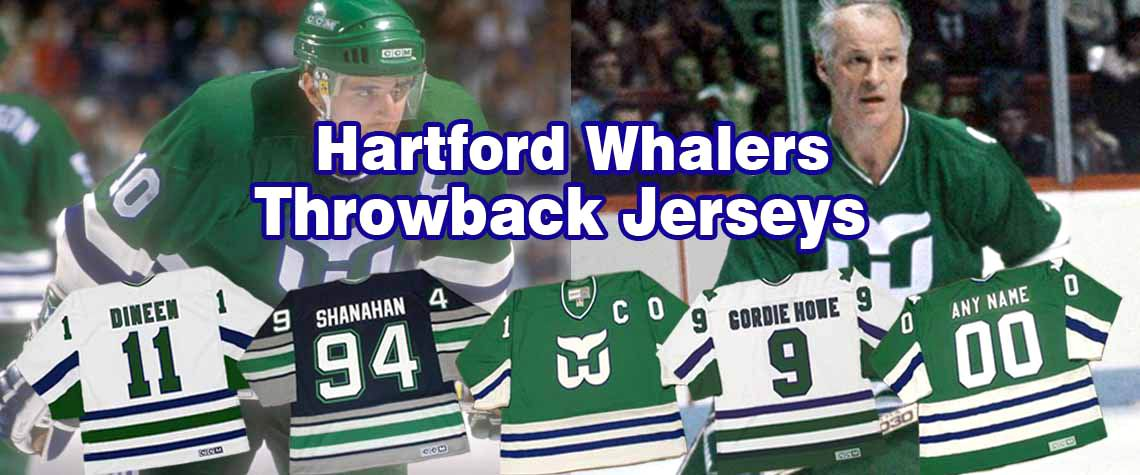 Hartford Whalers Throwback Hockey Jerseys