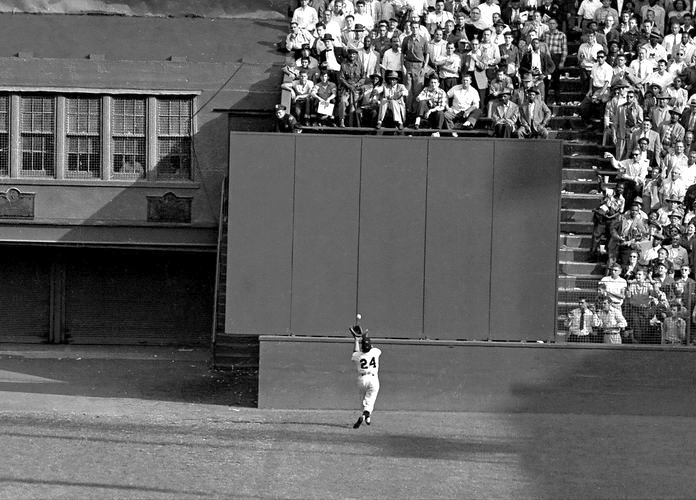 Willie Mays Great Catch