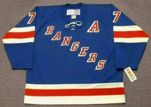 ROD GILBERT New York Rangers 1972 Away CCM Throwback NHL Hockey Jersey - FRONT