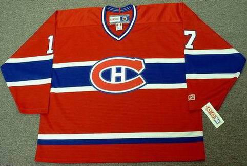 640c06196 ROD LANGWAY Montreal Canadiens 1979 CCM Throwback Away NHL Hockey ...