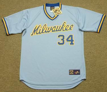 new style 4b6be 5a1bd ROLLIE FINGERS Milwaukee Brewers 1982 Majestic Cooperstown Throwback Away  Jersey