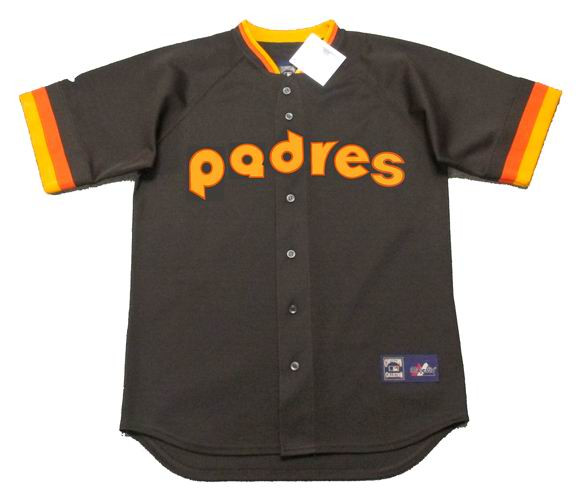 cheap for discount 26566 5e64d SAN DIEGO PADRES 1980's Majestic Cooperstown Throwback Away Baseball Jersey