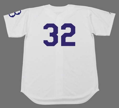 SANDY KOUFAX Brooklyn Dodgers 1950's Home Majestic  Baseball Throwback Jersey - BACK