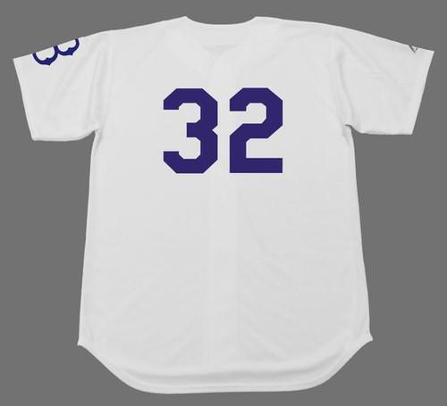 SANDY KOUFAX Brooklyn Dodgers 1950's Home Majestic  Baseball Throwback Jersey - BACK