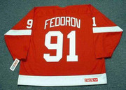 SERGEI FEDOROV Detroit Red Wings 2002 Away CCM Throwback NHL Hockey Jersey - BACK