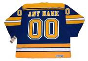 ST. LOUIS BLUES 1980's CCM Vintage Throwback Customized NHL Hockey Jersey - BACK