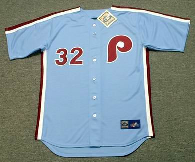 timeless design 1a3db 14311 STEVE CARLTON Philadelphia Phillies 1980 Majestic Cooperstown Throwback  Away Baseball Jersey