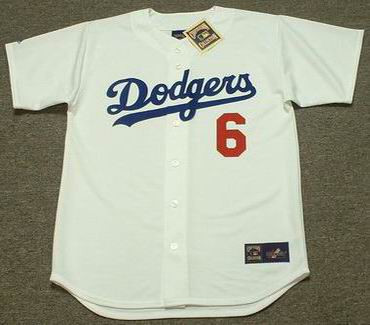 STEVE GARVEY Los Angeles Dodgers 1981 Home Majestic Baseball Throwback Jersey - FRONT