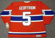 BERNARD GEOFFRION Montreal Canadiens 1959 Home CCM NHL Throwback Hockey Jersey - BACK