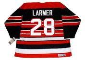 STEVE LARMER Chicago Blackhawks 1992 CCM Vintage Throwback NHL Hockey Jersey - BACK