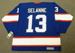 TEEMU SELANNE Winnipeg Jets 1992 Away CCM NHL Vintage Throwback Jersey - BACK