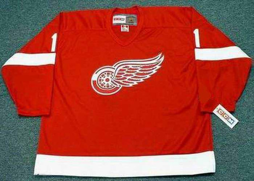 TERRY SAWCHUK Detroit Red Wings 1960's Home CCM Throwback NHL Hockey Jersey - FRONT