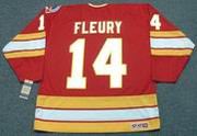 THEOREN FLEURY Calgary Flames 1989 Away CCM NHL Vintage Throwback Jersey - BACK