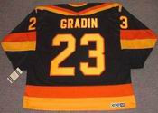 THOMAS GRADIN Vancouver Canucks 1985 CCM Vintage Throwback NHL Hockey Jersey