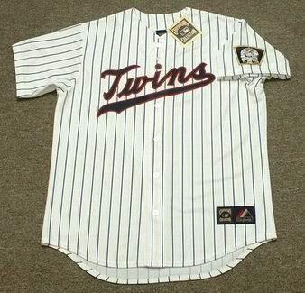 BERT BLYLEVEN Minnesota Twins 1970 Home Majestic Throwback  Baseball Jersey - FRONT