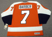 BILL BARBER Philadelphia Flyers 1974 CCM Vintage Throwback Away NHL Jersey - Back