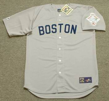 release date: 1f62c 4742a WADE BOGGS Boston Red Sox 1987 Majestic Cooperstown Throwback Away Jersey