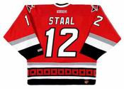 ERIC STAAL Carolina Hurricanes 2003 CCM Throwback Away NHL Hockey Jersey