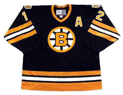 ADAM OATES 1994 CCM NHL Throwback Boston Bruins Away Jerseys - FRONT
