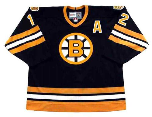 ADAM OATES 1994 CCM NHL Throwback Boston Bruins Away Jerseys - FRONT