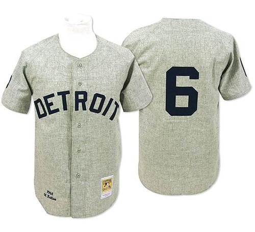 Al Kaline 1955 Detroit Tigers Majestic MLB Away Throwback Jersey