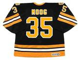 ANDY MOOG 1990 CCM NHL Throwback Boston Bruins Away Jerseys - BACK