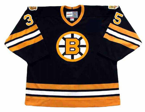 ANDY MOOG 1990 CCM NHL Throwback Boston Bruins Away Jerseys - FRONT