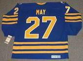 BRAD MAY 1992 Away CCM Vintage NHL Buffalo Sabres Throwback Jersey - BACK