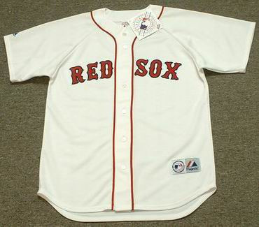 official photos 78111 fdf05 CARL YASTRZEMSKI Boston Red Sox 1983 Majestic Throwback Home Baseball Jersey