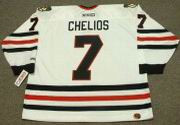 CHRIS CHELIOS Chicago Blackhawks 1996 CCM Throwback Home NHL Hockey Jersey