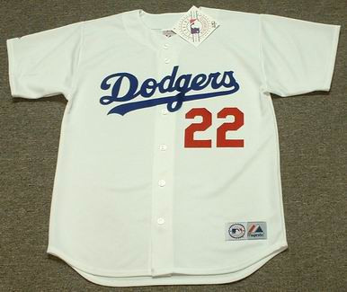 CLAYTON KERSHAW Los Angeles Dodgers 2014 Home Majestic Baseball Throwback Jersey - FRONT