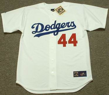DARRYL STRAWBERRY Los Angeles Dodgers 1991 Home Majestic Baseball Throwback Jersey - FRONT