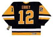 Bob Errey 1992 Pittsburgh Penguins NHL Throwback Away Jersey - BACK