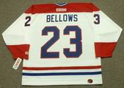 BRIAN BELLOWS Montreal Canadiens 1993 Home CCM Throwback NHL Hockey Jersey - BACK