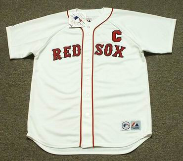 the best attitude 7ef79 bbaf7 JASON VARITEK Boston Red Sox Majestic Home Baseball Jersey
