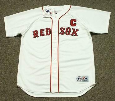 JASON VARITEK Boston Red Sox 2008 Majestic Throwback Home Baseball Jersey -  Custom Throwback Jerseys 7d29b0b8017