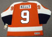 BOB KELLY Philadelphia Flyers 1974 CCM Vintage Throwback Away NHL Jersey - Back