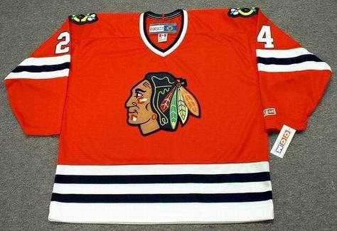 BOB PROBERT Chicago Blackhawks 1996 CCM Throwback Away NHL Hockey Jersey - FRONT