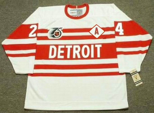 1992 CCM Vintage Throwback BOB PROBERT Detroit Red Wings Jersey - FRONT