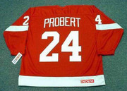 1993 Away CCM Throwback BOB PROBERT Detroit Red Wings Jersey - BACK