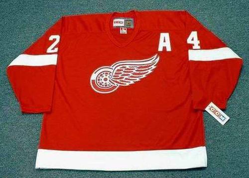 1993 Away CCM Throwback BOB PROBERT Detroit Red Wings Jersey - BACK