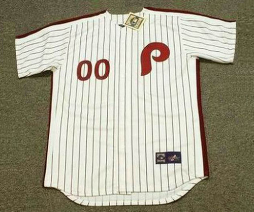 PHILADELPHIA PHILLIES 1980 s Majestic Cooperstown Home Jersey Customized