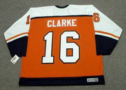 BOBBY CLARKE Philadelphia Flyers 1983 CCM Throwback Away NHL Hockey Jersey - Back