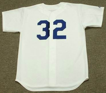 SANDY KOUFAX Los Angeles Dodgers 1965 Home Majestic Baseball Throwback Jersey - BACK