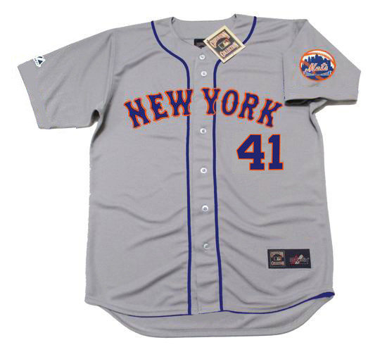 detailed look eb610 89b49 TOM SEAVER New York Mets 1973 Away Majestic Baseball Throwback Jersey